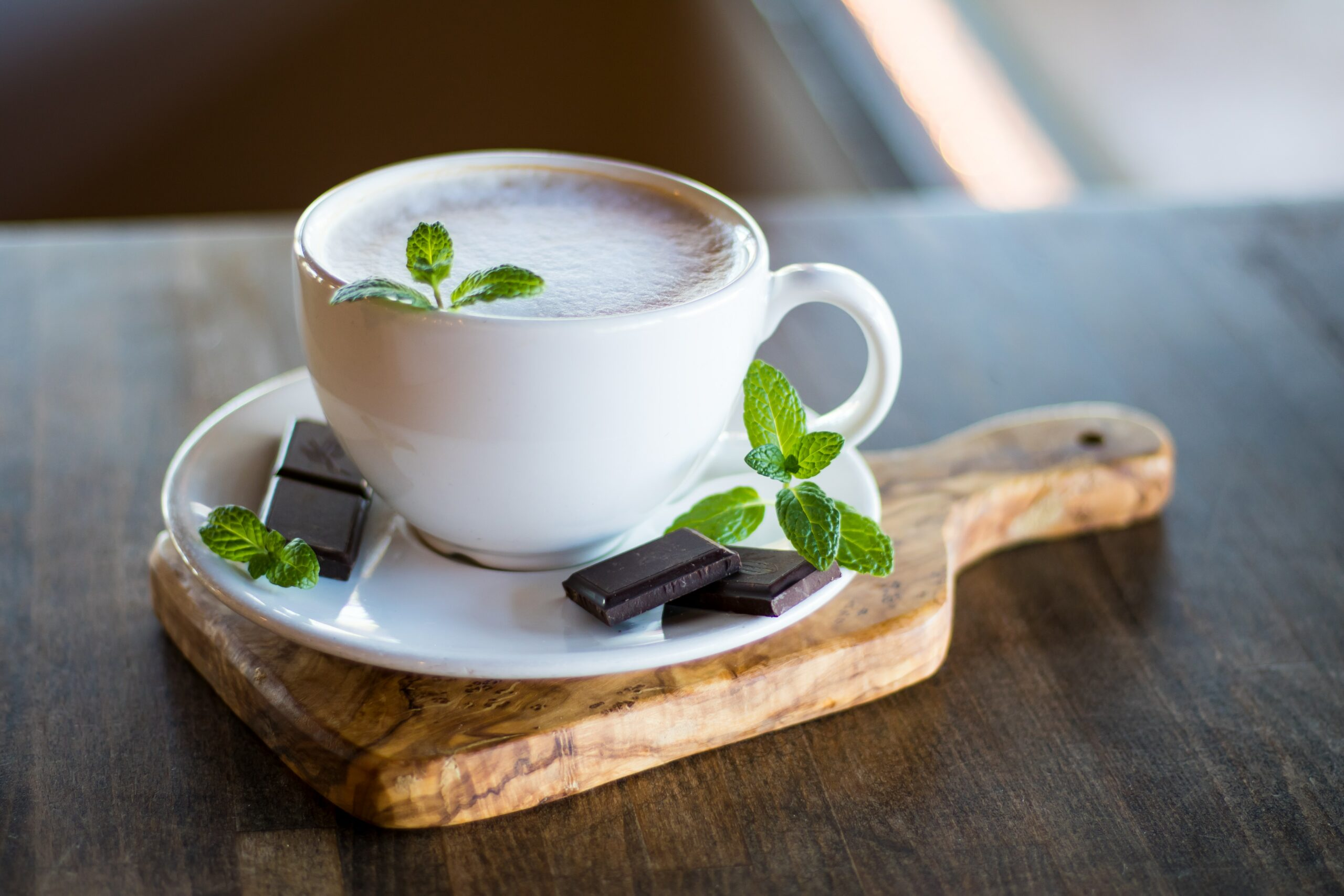"""Chocolate Mint Tea """"Latte"""""""